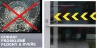 Bezpečnostní značení prosklených ploch