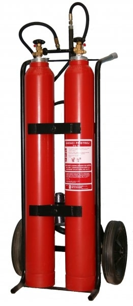 Pojízdný hasicí přístroj CO2 (sněhový) - 2x10 kg