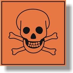 Bezpečnostní označení obalu chemických látek.