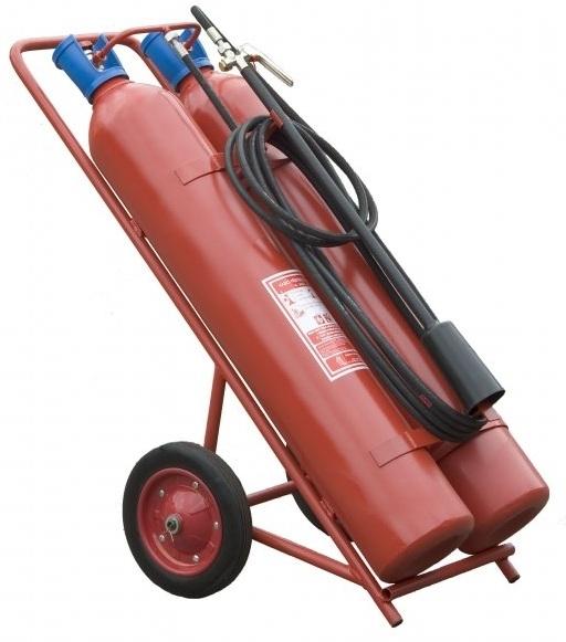 Pojízdný hasicí přístroj CO2 (sněhový) - 2x30 kg