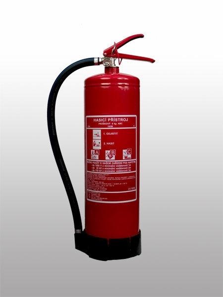 02. Práškový hasicí přístroj - 6 kg